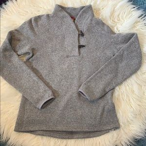 The North Face Crescent Heather Grey sweater.